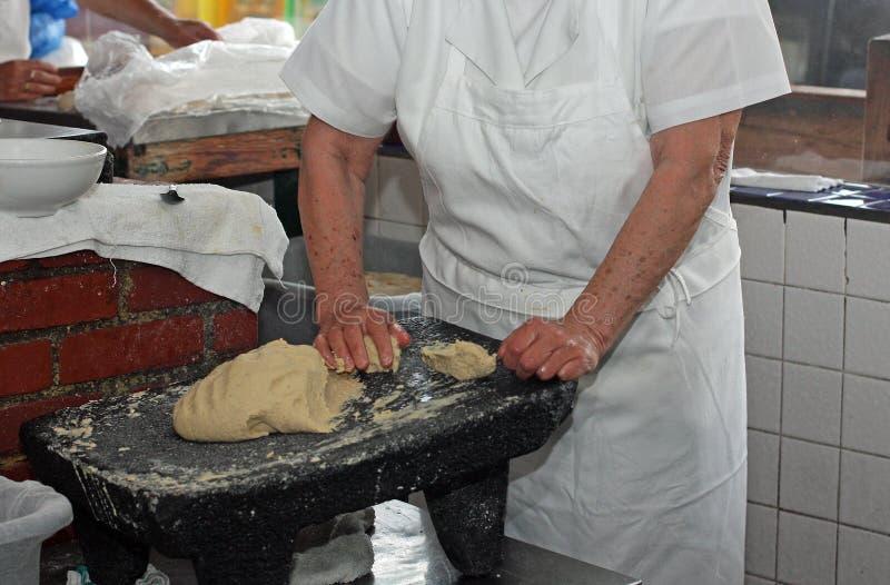 De maker van de tortilla royalty-vrije stock fotografie