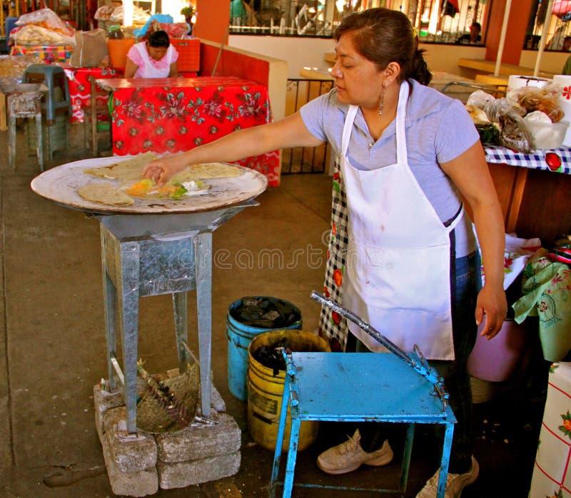 De maker van Quesadilla royalty-vrije stock foto