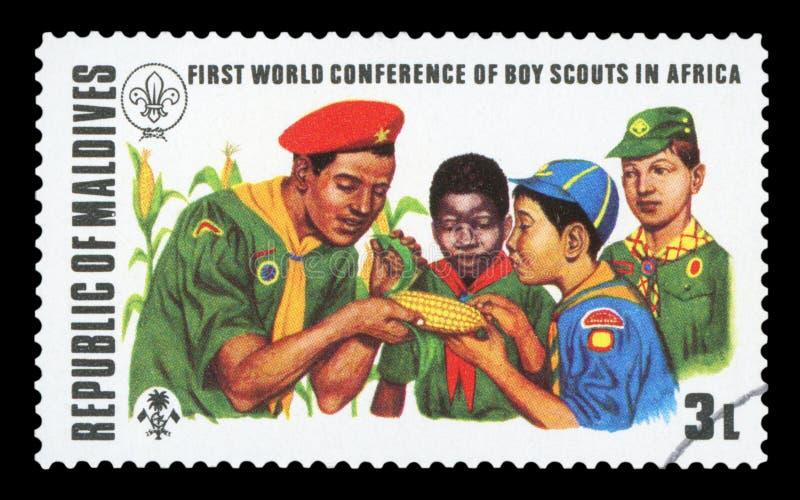 De MALDIVEN - Postzegel royalty-vrije stock foto's