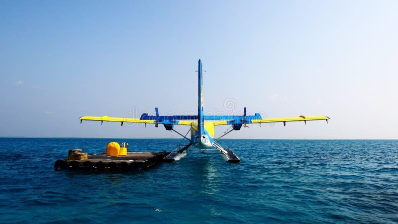 De Maldiverna sjöflygplanen arkivbild