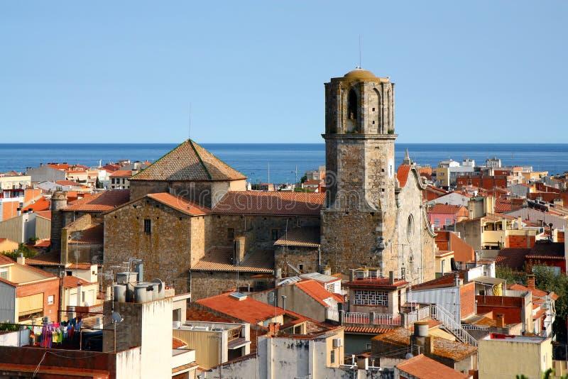 de malgrat χαλά την παλαιά πόλη της Ισπανίας στοκ εικόνες