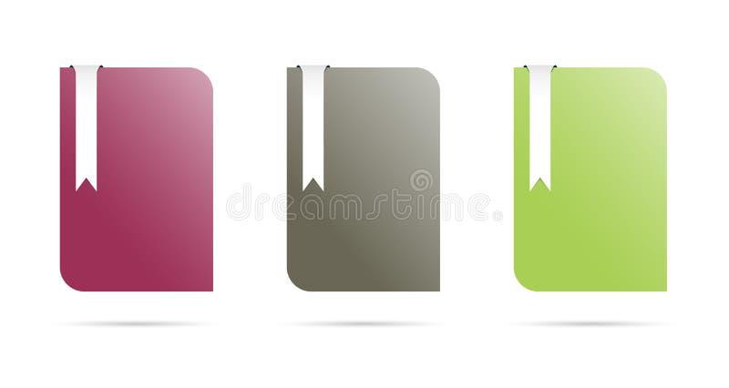 De malplaatjes van de kleur met referentie vector illustratie