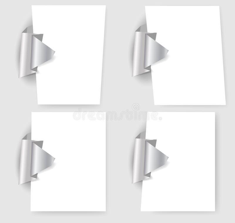 De malplaatjes van de presentatie met origamielement vector illustratie