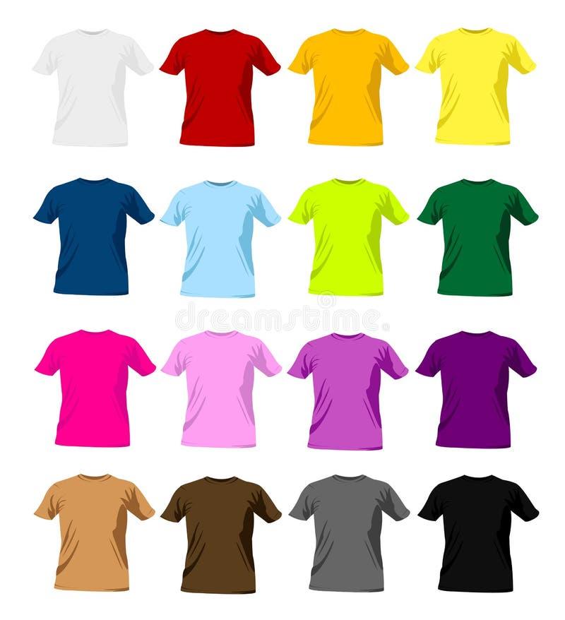 De malplaatjes van de t-shirt vector illustratie