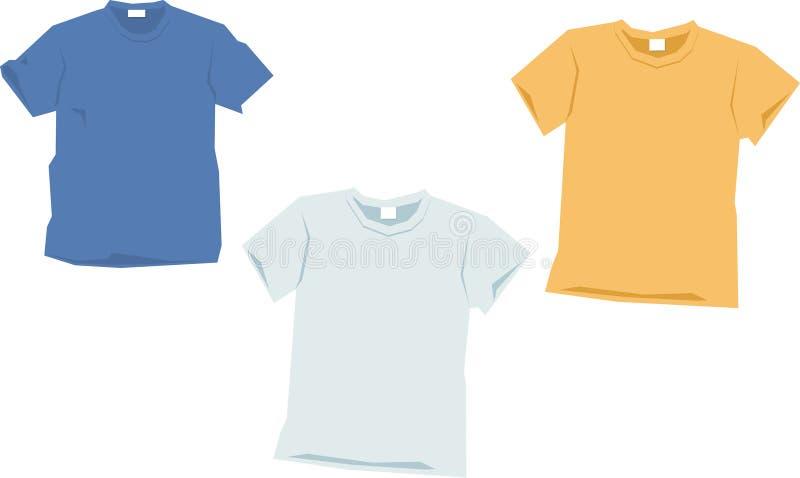 De malplaatjes van de t-shirt stock illustratie