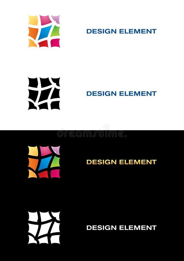 De malplaatjes van het embleem. De tegel van de kleur. vector illustratie