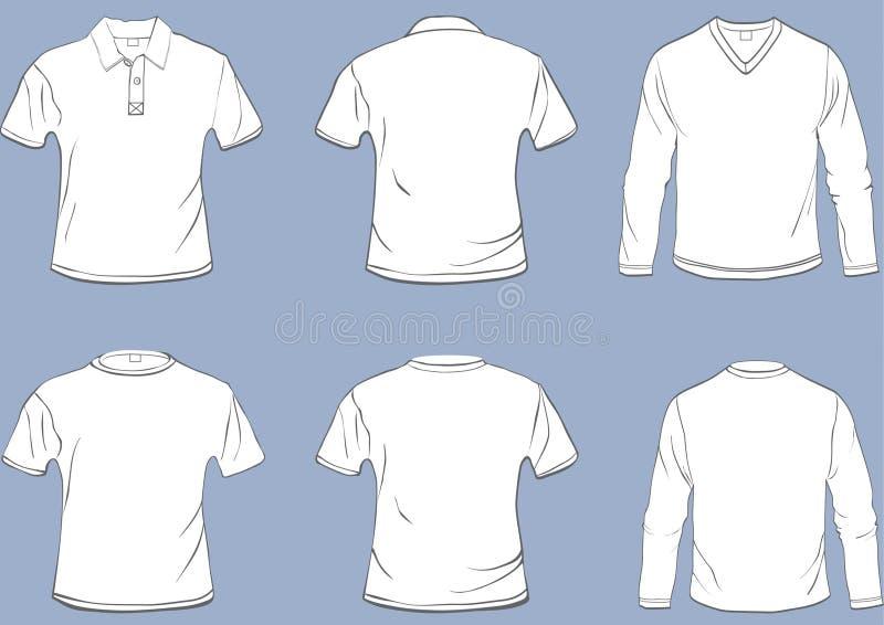 De malplaatjes van het overhemd royalty-vrije illustratie