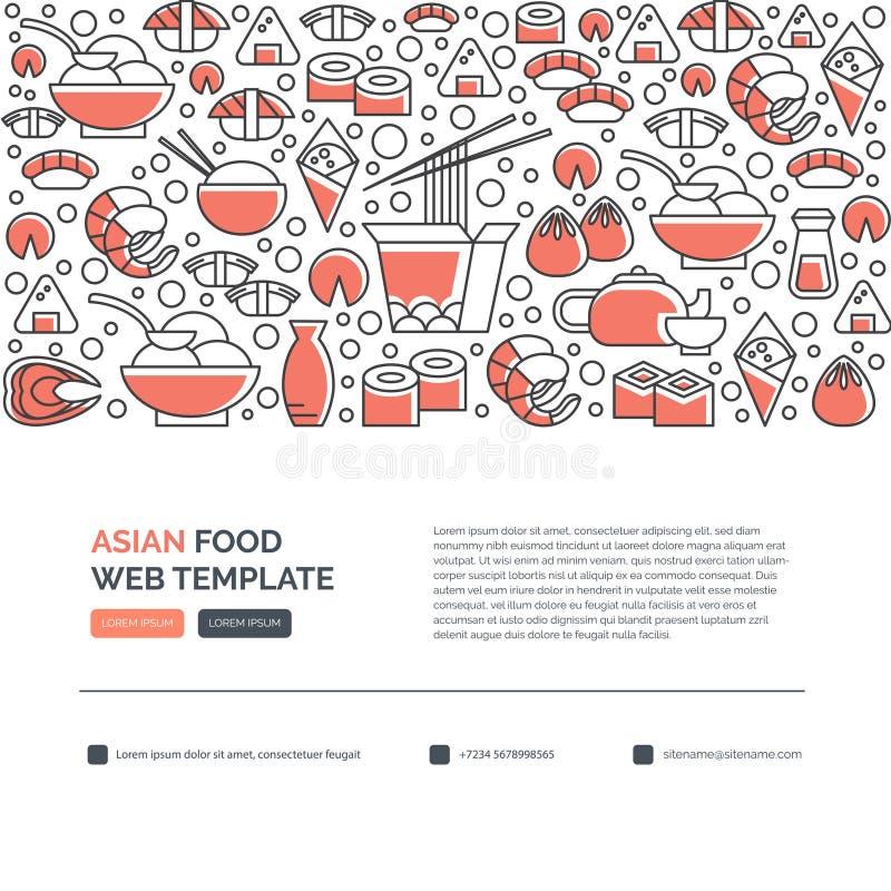 De malplaatjes van het sushiweb vector illustratie