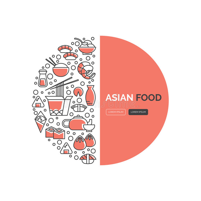 De malplaatjes van het sushiweb stock illustratie