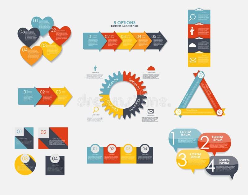 De Malplaatjes van liefdeinfographic voor Bedrijfsvector stock illustratie