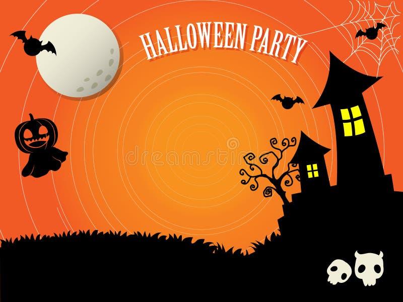 De malplaatjes voor Halloween kijken als eng royalty-vrije illustratie