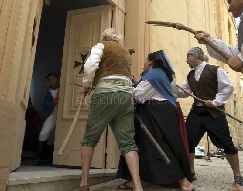De Maltese Opstand royalty-vrije stock afbeeldingen