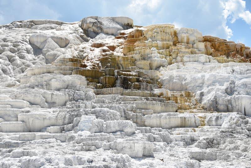 De mammoet Hete Lentes, het Nationale Park van Yellowstone royalty-vrije stock afbeelding