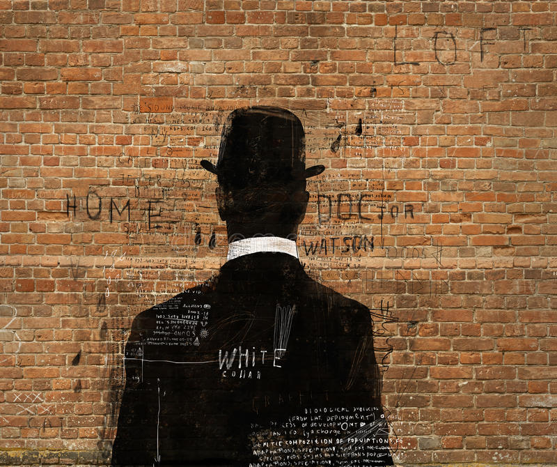 De man in de hoed royalty-vrije illustratie