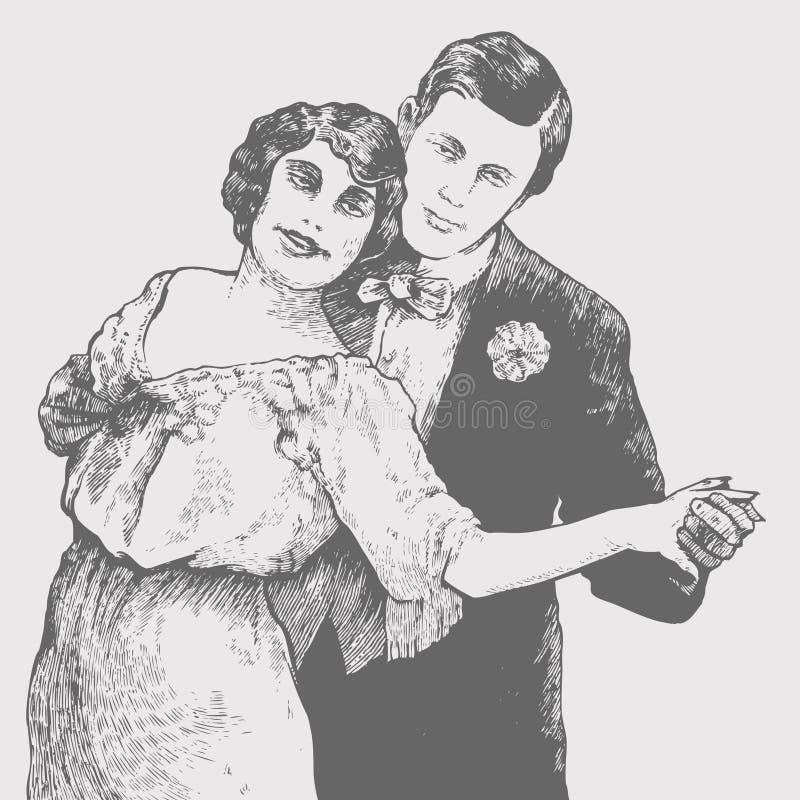 De man en de vrouw dansen een tango royalty-vrije stock foto's