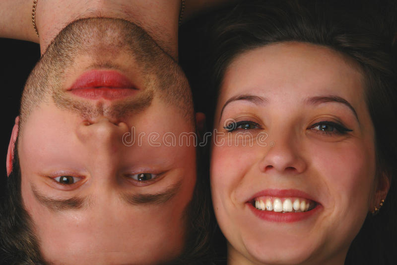 De man en de vrouw van het portret stock foto