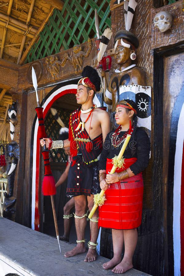 De man en de vrouw van de Phomstam bij Horbnill-Festival, Kisama royalty-vrije stock foto