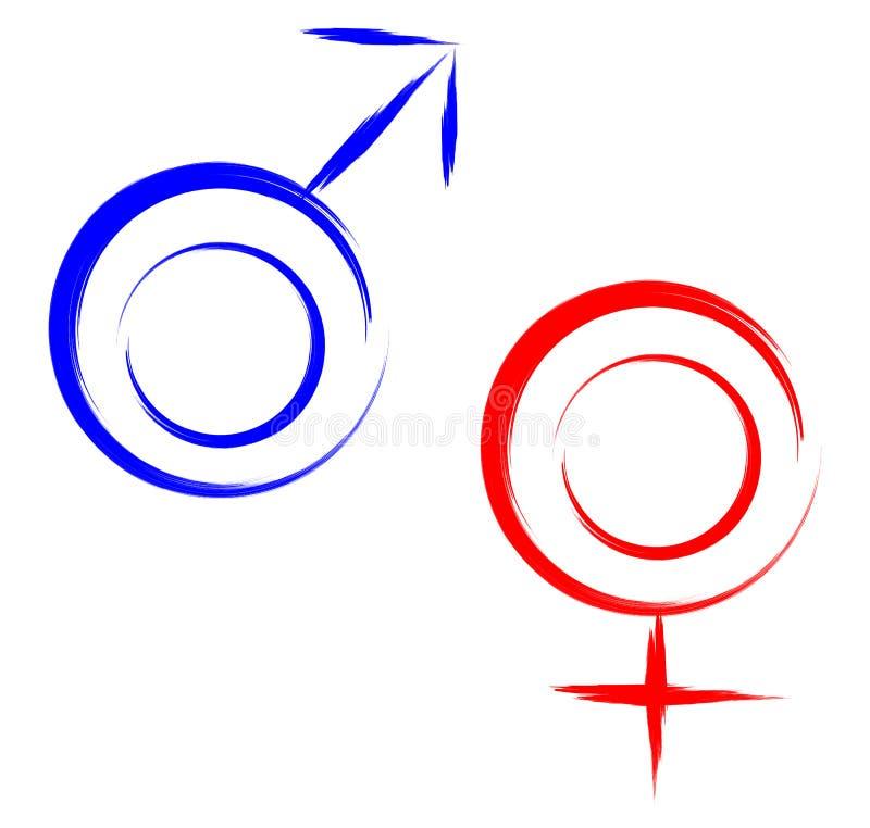 De man van geslachtssymbolen vrouw stock illustratie