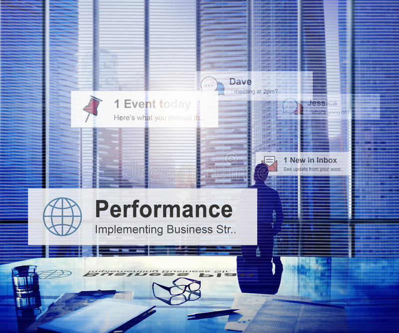 De Manager Concept van zakenmanthinking leadership contemplation royalty-vrije stock foto