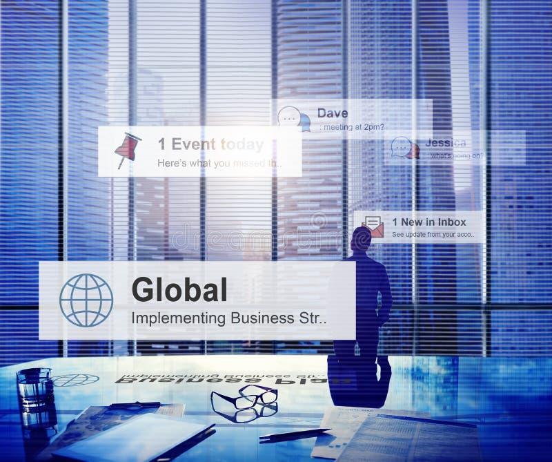 De Manager Concept van zakenmanthinking leadership contemplation royalty-vrije stock afbeeldingen