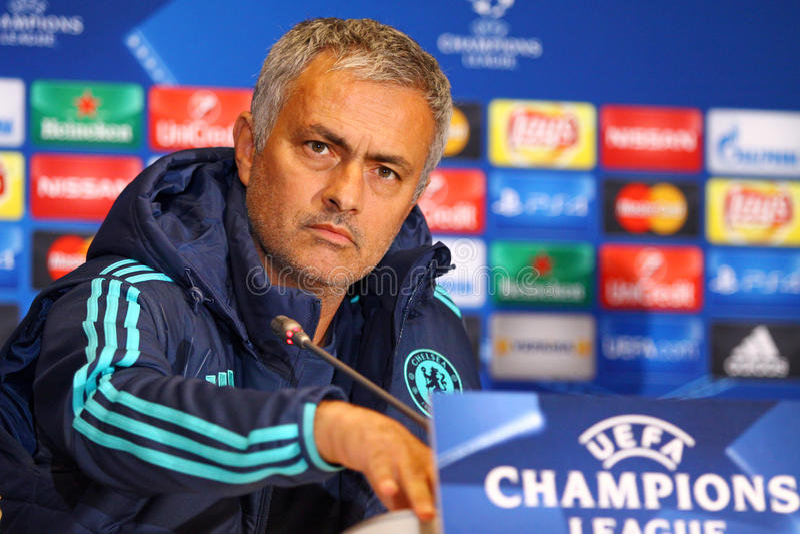 De manager Jose Mourinho van FC Chelsea stock fotografie