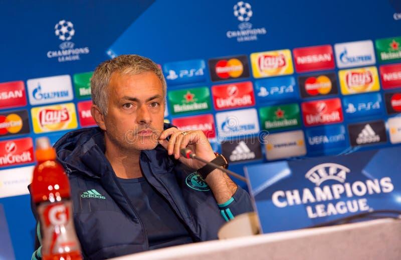 De manager Jose Mourinho van FC Chelsea stock afbeeldingen