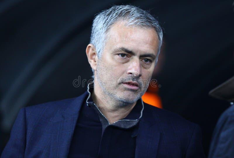 De manager Jose Mourinho van FC Chelsea stock foto