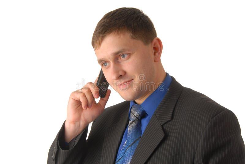 De manager spreekt op telefoon stock foto's