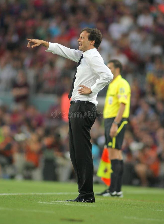 De manager van Allegri van AC Milaan stock foto's