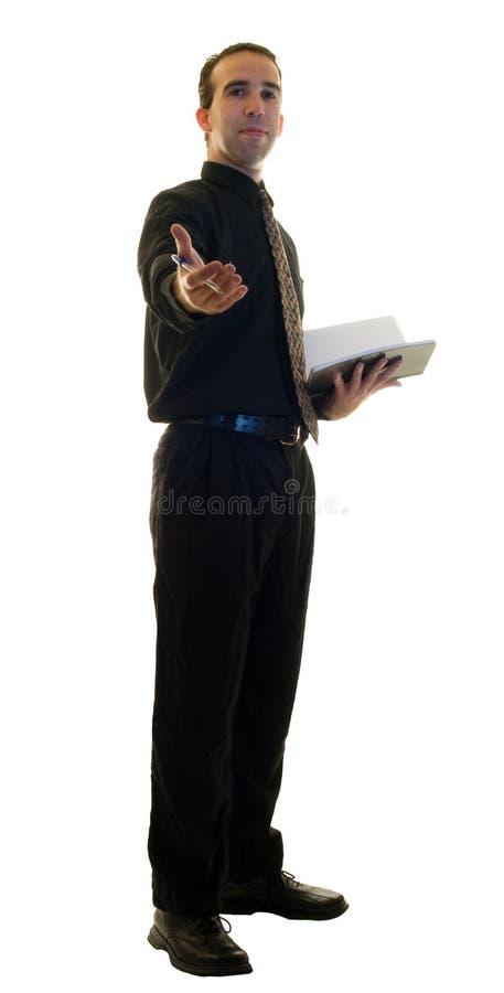 De Manager van het restaurant stock fotografie