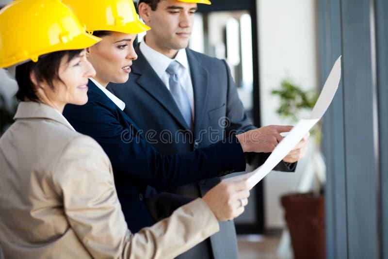 De managers van de bouw stock afbeelding