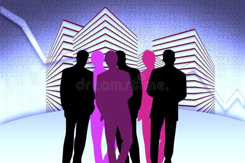 De Managers van het bankwezen royalty-vrije illustratie