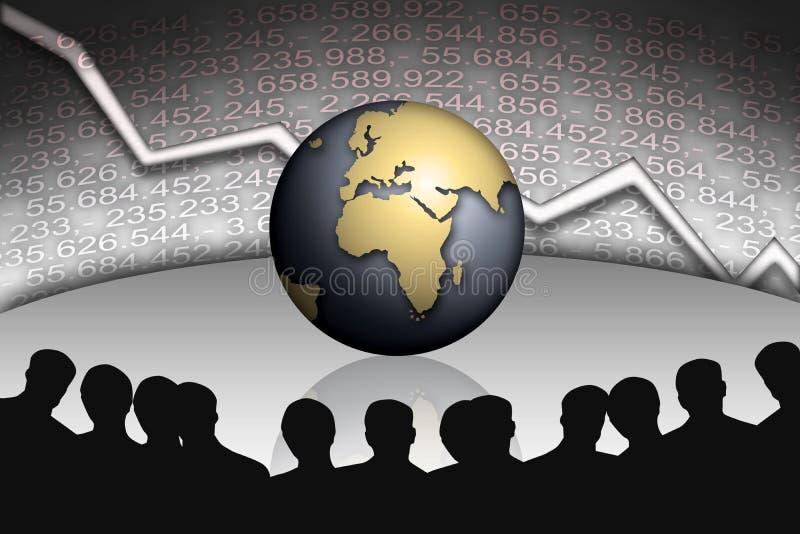 De Managers van het bankwezen stock illustratie