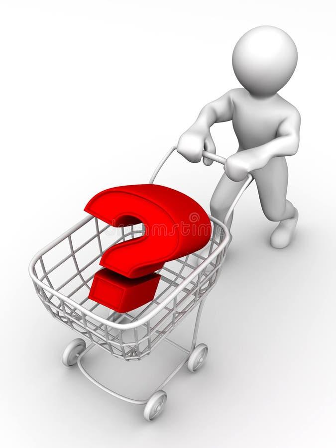 De mand van de consument met vraag royalty-vrije illustratie