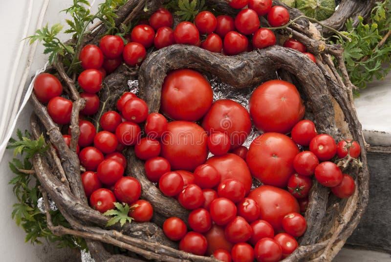 De Mand van de tomaat stock fotografie