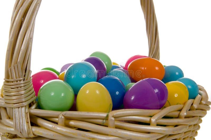 De Mand van het Paasei met multicolored Eieren royalty-vrije stock foto's