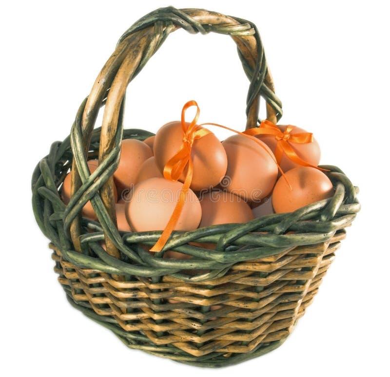 De mand van Pasen met eieren royalty-vrije stock afbeeldingen