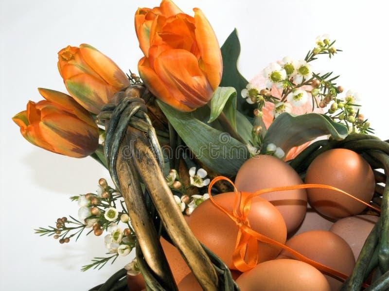 De mand van Pasen met eieren royalty-vrije stock foto