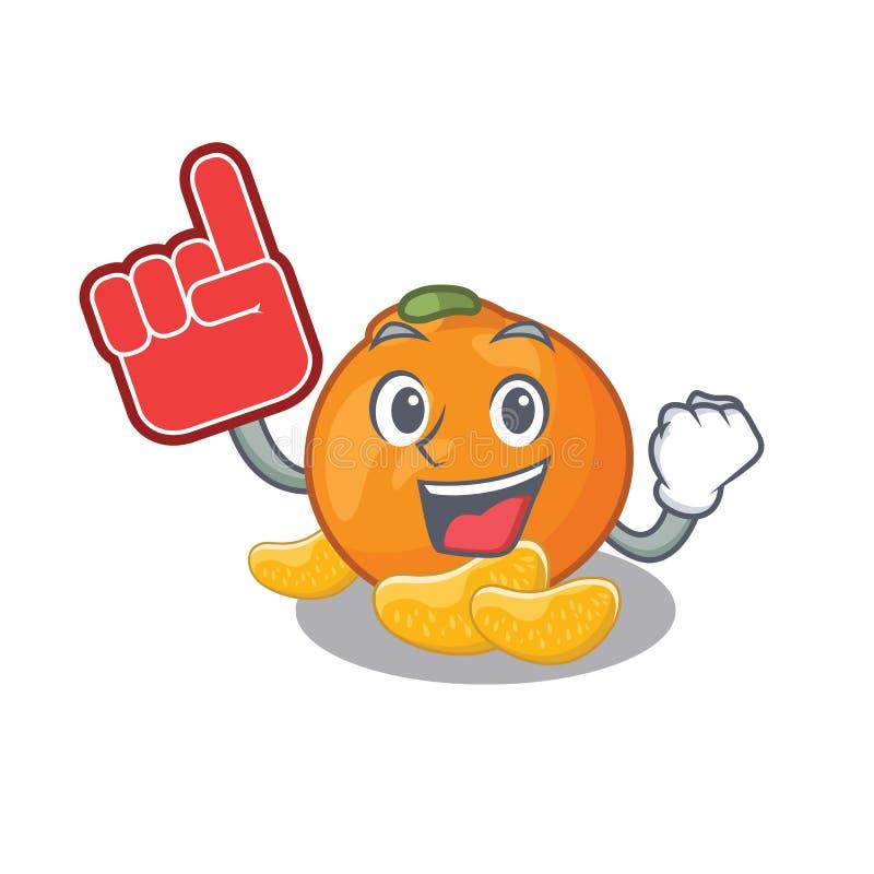 De mandarijn van de schuimvinger met in het beeldverhaal wordt geïsoleerd dat vector illustratie