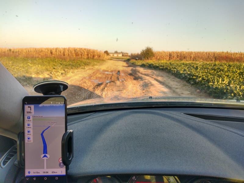 De manera equivocada designada por el sistema GPS imagen de archivo libre de regalías