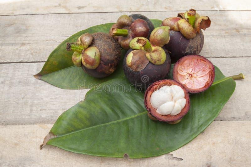 De mangostan is de koningin van vruchten Zoete heerlijke smaak stock afbeelding