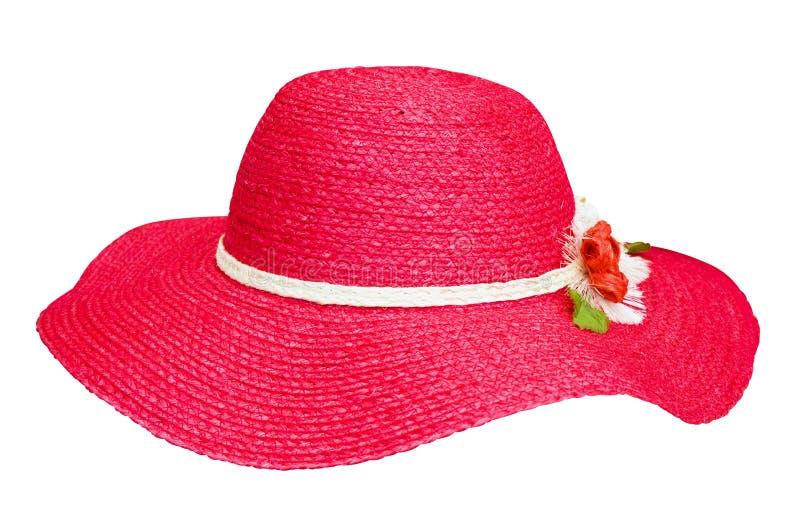 De manier rode hoed van de dame stock foto's