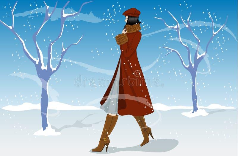 De Manier van de winter royalty-vrije illustratie