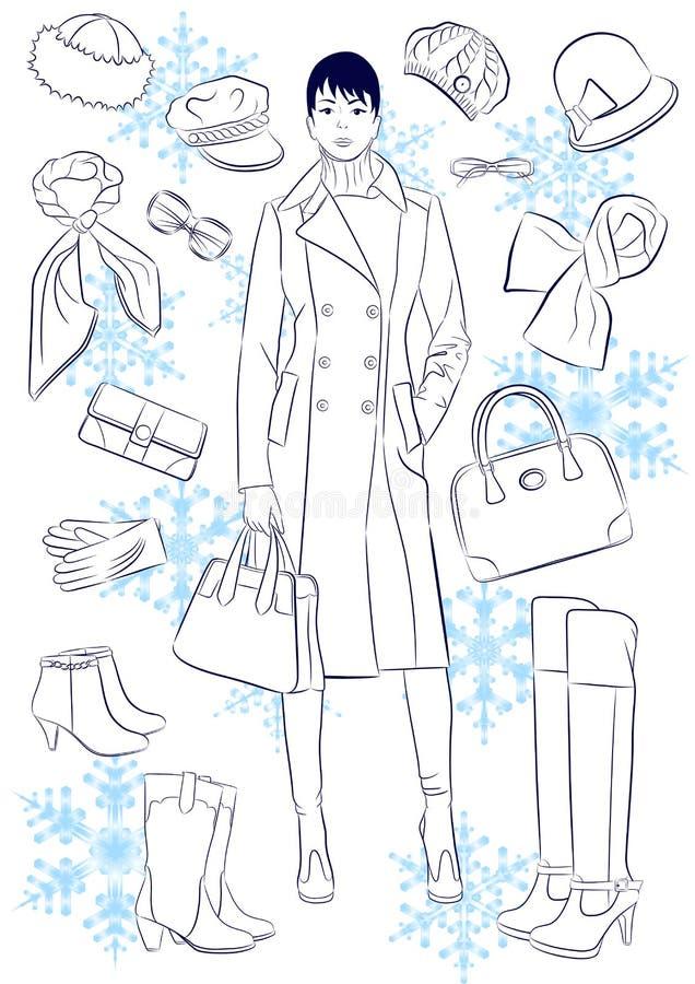 De manier van de winter stock illustratie