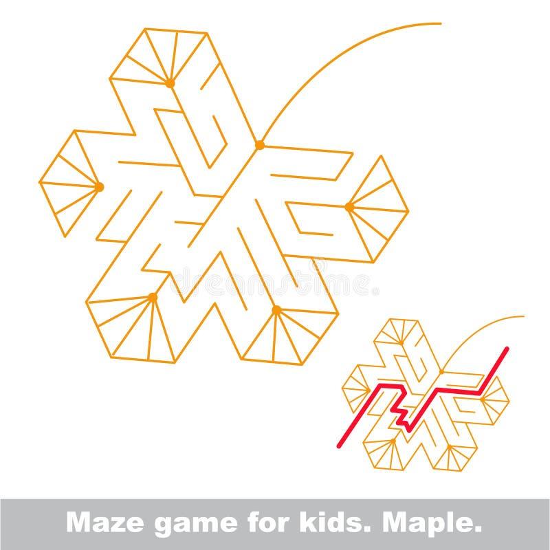De manier zoek Het labyrintspel van het de herfstjonge geitje vector illustratie