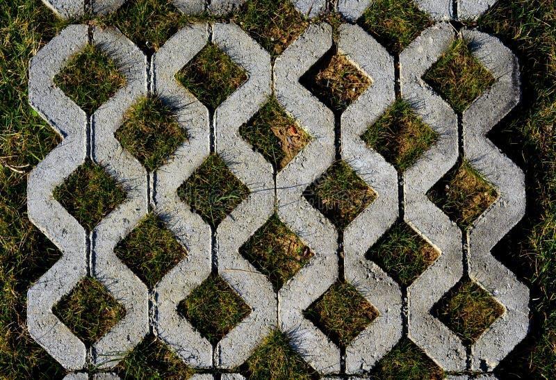 Download De Manieroppervlakte Van De Gang Van Concrete Blokken Stock Afbeelding - Afbeelding bestaande uit tuin, stad: 29502067