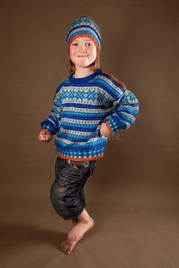 De maniersweater van het kind stock afbeeldingen