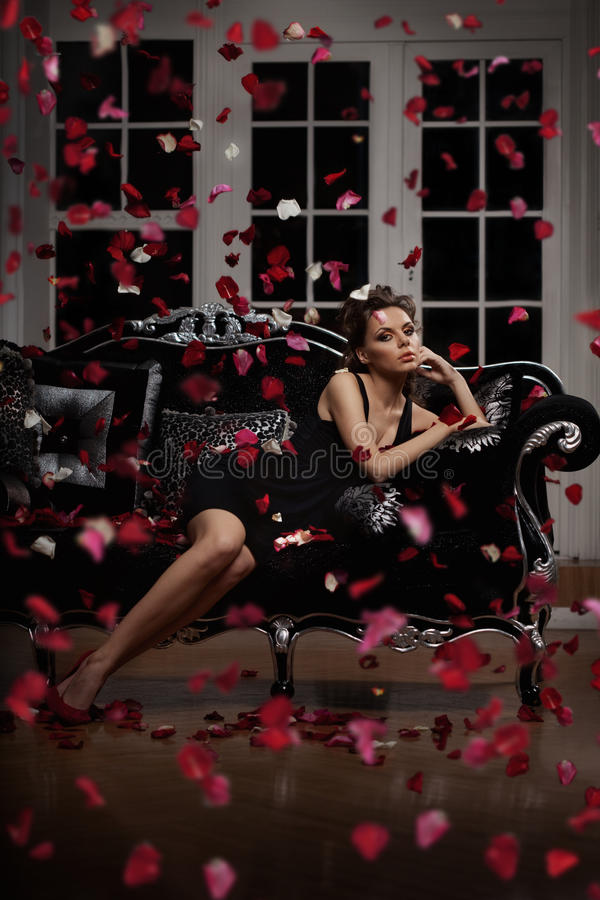 De maniervrouw van de luxe royalty-vrije stock afbeeldingen