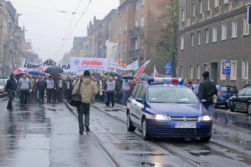 De manifestatie van arbeiders royalty-vrije stock foto