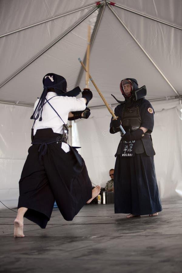 De Manifestatie van Kendo royalty-vrije stock fotografie
